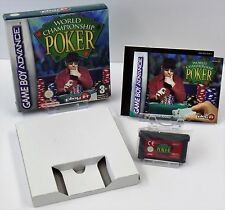 Nintendo Game Boy Advance GBA-World Championship poker + instrucciones + embalaje original