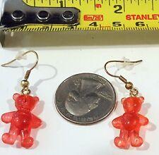 Miniature Fashion Jewelry Earrings Charms hard plastic like gummed bears design