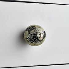 Vintage Grey Globe World Map Cupboard Drawer Pulls Novelty Handle Door Knob