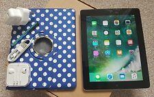GRADE-A* iPad 4Gen- 16GB Wi-Fi+ 4G (Unlocked), 9.7in Retina display- Black+Extra