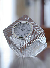 Waterford Crystal Meridian Large Centerpiece Crystal Clear Clock (BRAND NEW)