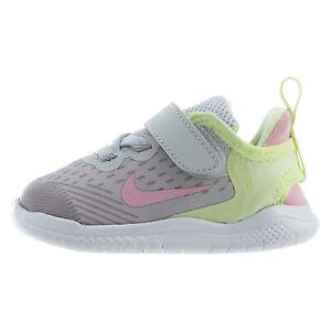 Nike FREE RN 2018 TD Toddler Running Shoes AH3456 002 Size 10 Pure Platinum/Pink