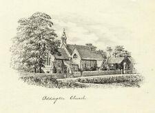 M.S. Smith, Holy Ascension Church, Oddington – Original 1871 pen & ink drawing