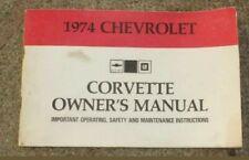 Owner's manual corvette chevrolet genuine edition 1974 original
