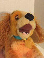 "Disney Store Lady and the Tramp Plush 15"" Laying Down Cocker Spaniel"