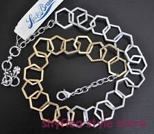 Lucky Brand Necklace Hexagon Link Bees Knees Two Tone Chain Links Bee Hive New