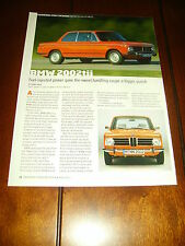 1972 1973 1974 BMW 2002 tii  ***ORIGINAL 2015 ARTICLE***