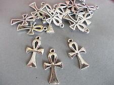 20 x ankh croix argent couleur tibétain métal charms/pendentifs