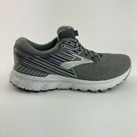 Brooks Adrenaline 19 Womens Size 10 B Gray Purple Running Athletic Sneaker Shoes