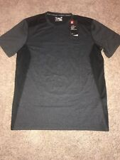 Mens Under Armour Raid Shirt Size Large Black / Gray 1257466 MSRP $30