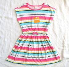 Gymboree Striped Multi Color Summer Dress Pink White Blue Sz 5 6 S NEW w Tag