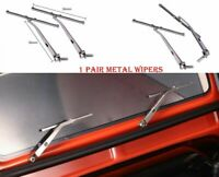 2PCS Metal Windscreen Wipers for Traxxas TRX4 Land Rover Defender 90046 RC Truck