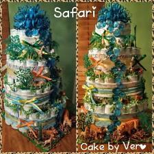 Safari Diaper Cake (4 Tier, boys)