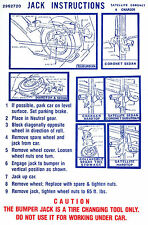 1971 DODGE CHARGER/RT/CORONET  JACK INSTRUCTION  DECAL