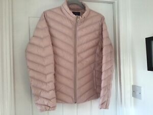 Ladies Lightweight Feather And Down Padded Jacket Petal Pink VGC