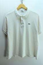 Lacoste Men's Polo Shirt Size 6 - XL White Shortsleeves Cotton Polo Shirt EF1637