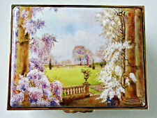 Lim. Ed. 45/250 Halcyon Days Enamels Hp Large Box Wisteria House 1923: Coa & Nr!