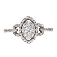 Diamond Solitaire with Accents 18k Fine Rings