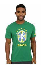 2016-2017 Brazil Nike Core Crest Tee Green Size Large