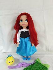 "Disney Store Animator Doll Ariel Little Mermaid Blue Dress 16"" Rare"