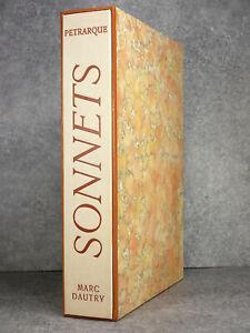 PÉTRARQUE. SONNETS. 132 BURINS ET BOIS ORIGINAUX DE MARC DAUTRY. 1977.