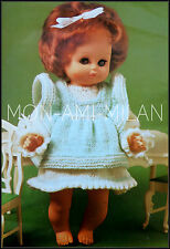 Knitting Pattern • DOLLS CLOTHES • DRESS & PINAFORE BABY REBORN TINY TEARS DOLL