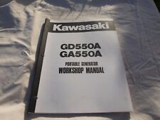 Kawasaki GD550A GA550A Portable Generator Workshop Manual P/N: 99924-2019A