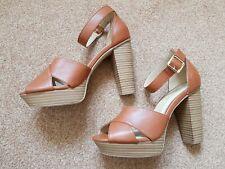 High Heel Tan Sandles Size 6 NWOT