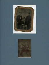 CIVIL WAR VETERANS THE TOUVELL FAMILY ORIGINAL TINTYPE