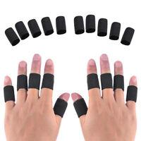 KE_ 10x Elastic Finger Sleeves Sport Support Brace Thumb Guard Baske Eyefu