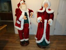 "Christmas Life Size 60"" Dancing Musical  Santa Claus and Singing Mrs. Claus"