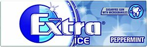 Wrigley's Extra Ice Peppermint Sugar free Chewing Gum 10 pieces Pack of 30