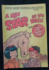 Vintage Comics 1971 A NEW STAR AT THE TRACK Promo by WESTERN HARNESS RACING