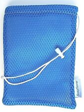 "Soap Saver Combo 3 in 1 Pouch, Blue & White, The New ""Soap on a Rope"""