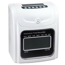 LCD Attendance Punch Time Clock Office Factory Employee Payroll Recorder w/ Card