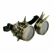 Goggles Spikes Bronze Gold Steampunk Brille Schweißerbrille Burning Man Dornen