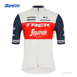 NEW 2021 Santini TREK SEGAFREDO FAN Short Sleeve Cycling Jersey : WHITE/RED
