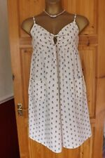 LAURA ASHLEY ARCHIVE CREAM FLORAL PRINT STRAPPY A-LINE SUMMER DRESS SIZE UK 14