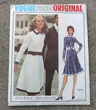 Original  1970s  Vogue Paris Original  Dress Pattern FF Uncut Pierre Balmain 32