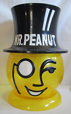"MR. PEANUT HEAD COUNTER MERCHANDISING DISPLAY BOWL JAR 13"" TALL Vintage"