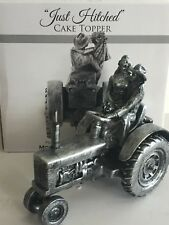 Montana Silversmiths, Just Hitched, Tractor, Antique Silver, Western Cake Top