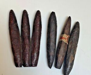 Mid century bronzed iron 6 cigars sculpture