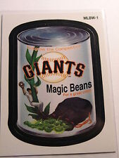 San Francisco Giants Magic Beans 2016 Topps Wacky Packages MLB Card MLBW-1