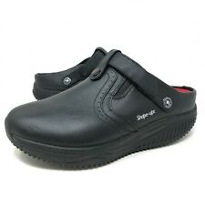 Skechers Work Shape-Ups Slip Resistant Clogs Black Slip On Comfort Womens Sz 8.5