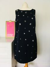 Monsoon Size 14 Navy Shift Dress Embellished Beaded Party WEdding Special 2A