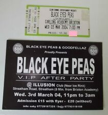 BLACK EYED PEAS (Will.I.Am) Ticket - Brixton Academy 03/03/2004 +VIP AFTER PARTY