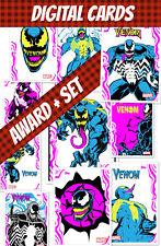 Topps Marvel Collect Award + Full Set (1+9) Venom Color Wave 2020