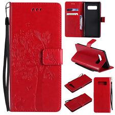 Flip Embossed Patterned PU Leather Card Pocket Strap Kickstand Case Cover KT