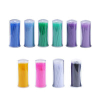 100×Disposable Micro Applicator Brush Stick Eyelash Extension Dental Swabs Nove