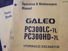 komatsu operation maintenance manual parts book PC300LC-7L PC300HD-7L A85001 up